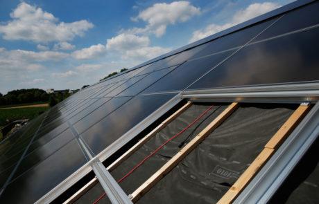foto van het dak in opbouw
